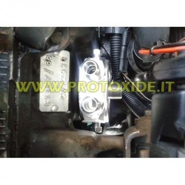 Sendvičový adaptér pro olejový chladič Renault 5 GT Podporuje olejový filtr a olejový chladič příslušenství