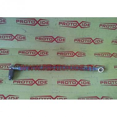Manguera de aceite en trenzado metálico Punto GT - Rodamientos turbo Uno Turbo 1400 COLECTOR LATERAL Tubos de aceite y acceso...