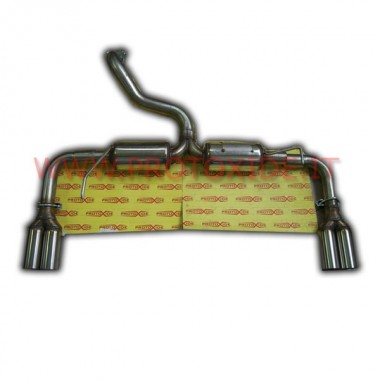 Exhaust muffler FINALE Fiat 500 Abarth double silencer Complete stainless steel exhaust systems