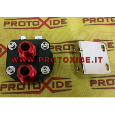 Sæt til filterholder og filterstøtte til at flytte Lancia Delta-oliefilter Understøtter oliefilter og olie køligere tilbehør