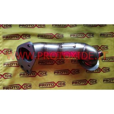 Çelikte kaplanmamış egzoz iniş borusu Alfaromeo 4c CORTO Downpipe for gasoline engine turbo