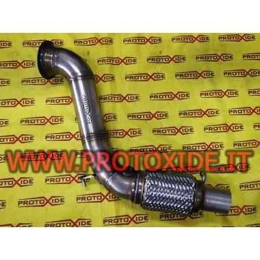 Downpipe scarico maggiorato libero BMW 116i 1.6 136hp per turbo originale inox Downpipe for gasoline engine turbo