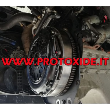 Kit Volano monomassa acciaio, con frizione rinforzata Fiat 500 Abarth T-jet 1400 16v turbo Kit volano acciaio completi di fri...
