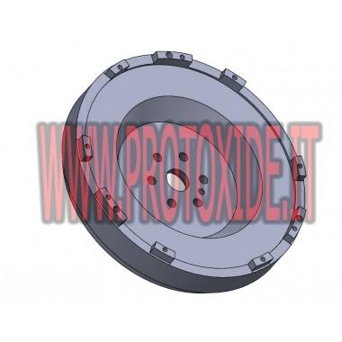 Kit Volano monomassa acciaio, frizione Rame rinforzata 4-5 petali 500 Abarth - Tjet Kit volano acciaio completi di frizione r...