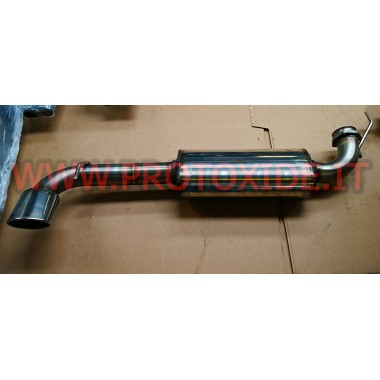 Exhaust muffler Lancia Delta 2000 16v 2.000 increased turbo 70mm Exhaust mufflers and tip terminals
