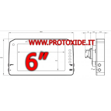 """Cruscotto digitale per auto e moto 6"""" modello P"""