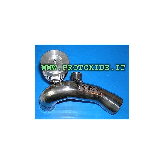 Pop off con manicotto in acciaio inox per Smart 600-700cc Valvole PopOff e adattatori