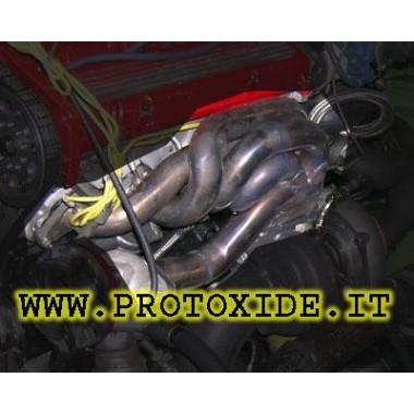 エキゾーストマニホールドランチア·デルタは、外部ウエストゲートマウント16V ターボガソリンエンジン用スチールマニホールド