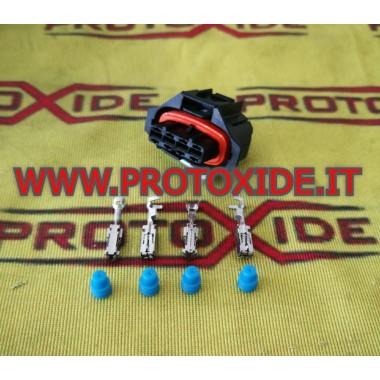 4-посочен мъжки конектор Bosch тип 2 женски автомобилен терминален порт Автомобилни електрически конектори