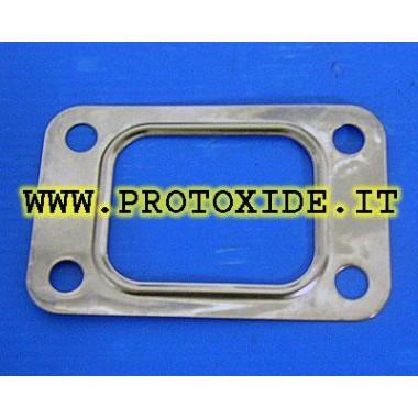 Guarnizione T2 - T25 turbocompressore GT25 - GT28 - GTX28 Mitsubishi TD04 scarico acciaio Inox rinforzata Guarnizioni rinforz...