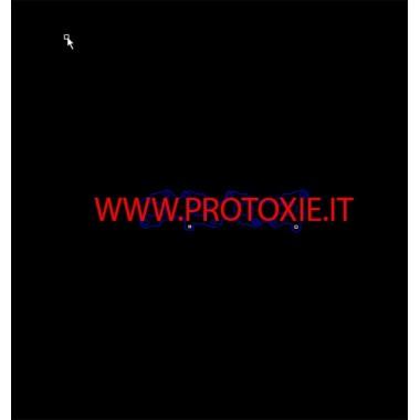 Příruba výfukového potrubí Alfaromeo Giulietta 4C 1750 Výfukové potrubí přírub