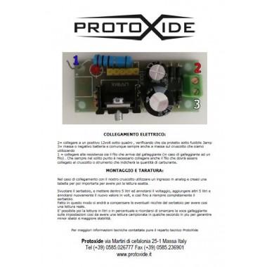 Copia istruzioni di un prodotto ProtoXide Nostri servizi