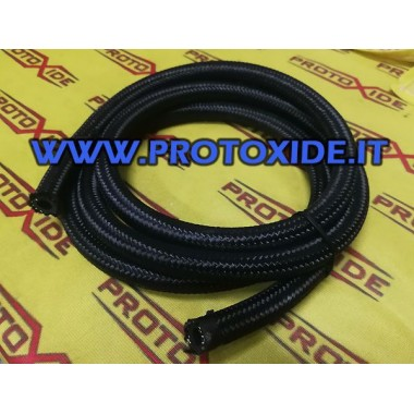 Fuel hose - internal 14mm synthetic rubber oil Fuel pipes - braided oil and aeronautical fittings