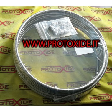 copy of mànega de combustible al cautxú sintètic amb 8 mm de metall trenat intern