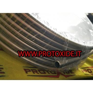 Brandstofbuis E85 roestvrij staal 8 mm inwendig Brandstofleidingen - gevlochten olie en aeronautische hulpstukken