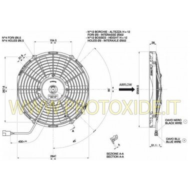 Zvýšený ventilátor pro vodní radiátor o průměru 290 mm fanoušci