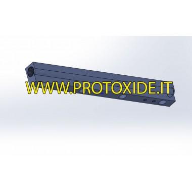 Ergal zvýšil flétnu pro injektor Minicooper R53 Billet injection rails