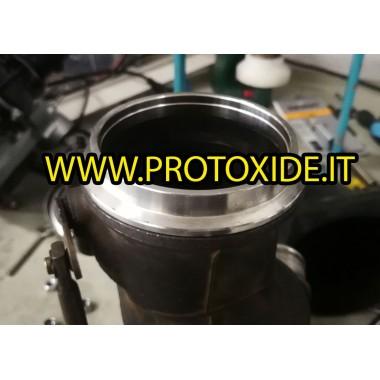 Príruby v-band výstupný otvor pre gt1446 turbo SS Príruby pre turbodúchadlá, dýzy a odpadové kúty