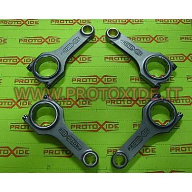 قضبان ربط فولاذية Mitsubishi Lacer Evo 6-7-8-9 turbo 600hp with H معكوس H ربط قضبان