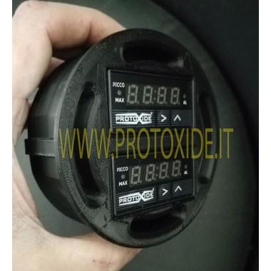 Θήκη οργάνων εξαερισμού Fiat 500 Abarth για 2 συμπαγή ορθογώνια όργανα ProtoXide Υποδοχές οργάνων και πλαίσια για όργανα
