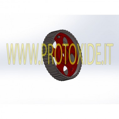 Puleggia registrabile per Fiat 500 Abarth Grandepunto 1400 16v turbo Pulegge registrabili motore e pulegge compressori