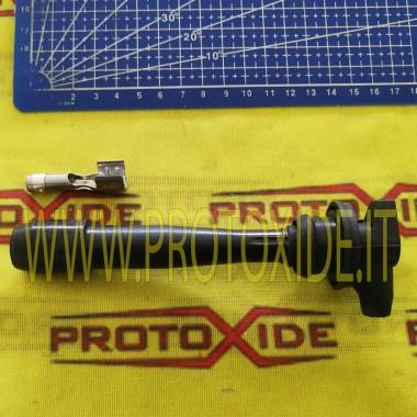 Stecker Stecker gerade schwarze Kappe mit Anschluss Kerzenkabel und DIY-Terminals