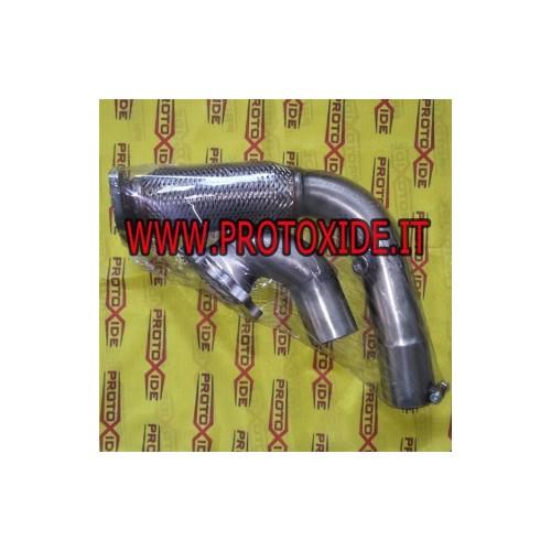 Downpipe di scarico maggiorato in acciaio con flessibile per Fiat Punto GT per turbocompressore originale IHI VL7 Downpipe fo...