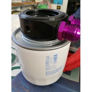 Adattatore sandwich per radiatore olio per Alfaromeo Giulia Gt 1300-1600 2a serie portafiltro Supporti filtro olio e accessor...