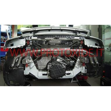 צעיף פליטה אאודי R8 4200 V8 נירוסטה ספורטיבית עם שסתומים צנטריפוגות פליטה ומסופים