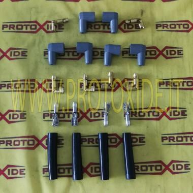 スパークプラグケーブルキット用のキャップと端子のセット4 キャンドルケーブルとDIY端子