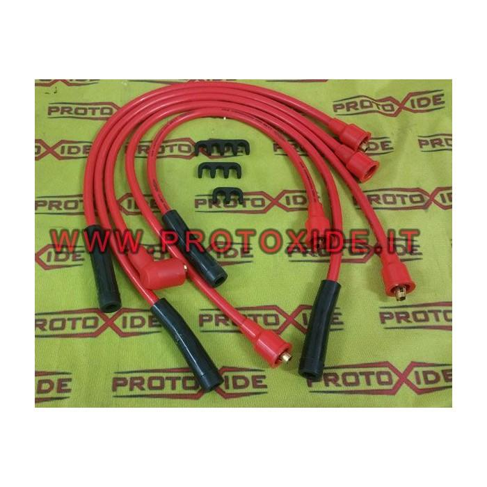 Cavi candela alta conducibilità per Fiat Ritmo 105 -130 TC rossi Cavi Candela specifici x auto