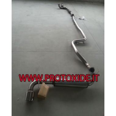 copy of Fuld Lancia Delta Muffler NO KAT 70mm Komplet rustfrit stål udstødningssystemer