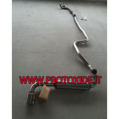 copy of Full Lancia Delta Muffler NO KAT 70mm Complete stainless steel exhaust systems