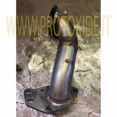 スチールAlfaromeo 4c CORTOの未加工の排気管 Downpipe for gasoline engine turbo