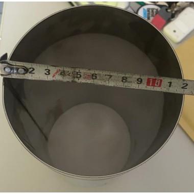 Tubo acciaio dritto inox diametro esterno 120mm lunghezza 28 centrimetri CALANDRATO Manicotti Tubi dritti acciaio Inox