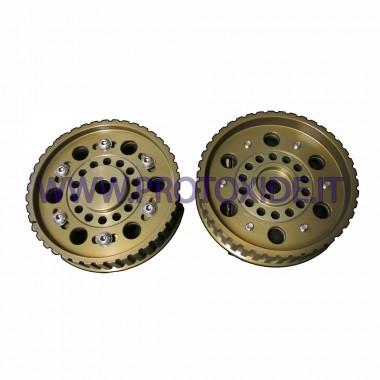 גלגלות מתכווננות לפיאט 124 - פיאט 131 דגם 2 עם מגן חגורה גלגלי מנוע מתכווננים וגלגלי מדחס