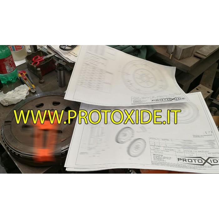 Volano motore monomassa acciaio alleggerito per Renault Clio V6 phase 1 phase 2 Volani motore in acciaio ed alluminio allegge...
