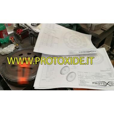 Single-mass steel flywheel kit with reinforced clutch Renault Clio V6 phase 1 phase 2 Steel flywheels