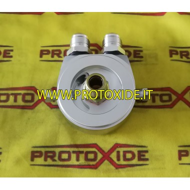 Adapter for installation of oil radiator specific Fiat-Alfa-Lancia 1000-1100 fire engines