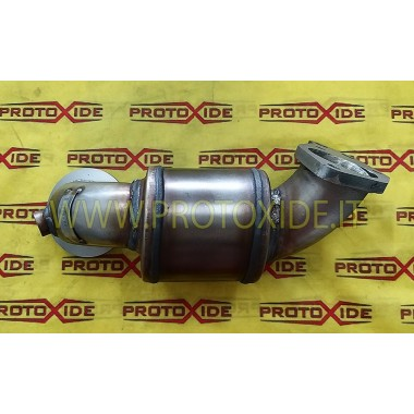 copy of Bajante de escape no curado en acero Alfaromeo 4c CORTO Downpipe for gasoline engine turbo