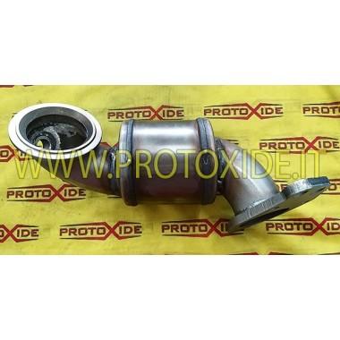 copy of Bajante de escape no curado en acero Alfaromeo 4c CORTO Downpipe for gasoline engine turbo