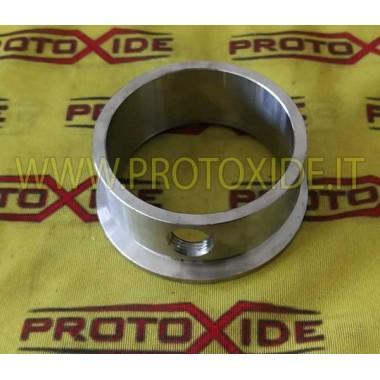 Flangia v-band scarico per Turbo gt 1446 uscita anello downpipe acciaio inox con boccola sonda lambda Flange per Turbo, Downp...