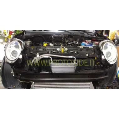 copy of Oil Cooler Set for Fiat Grandepunto Abarth t-jet 1400 COMPLETE Bigger oil coolers