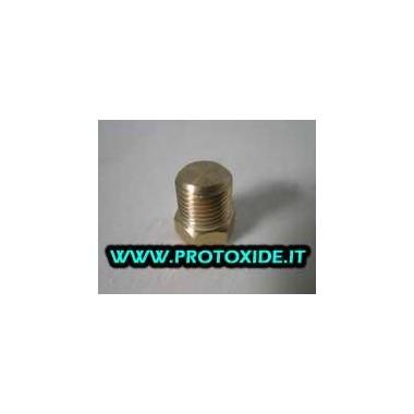 Tappo maschio raccordo in alluminio conico da 1/8 npt per chiudere fori sensori Supporti filtro olio e accessori per radiator...
