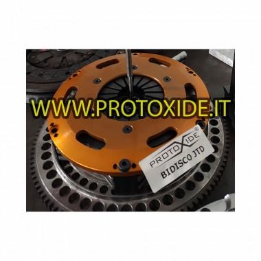 مجموعة دولاب الموازنة الفولاذية مع القابض النحاسي ثنائي اللوح Fiat Grandepunto Alfa 147 Lancia 1.9-2.0-2.4 JTD 8-16v مجموعة د...