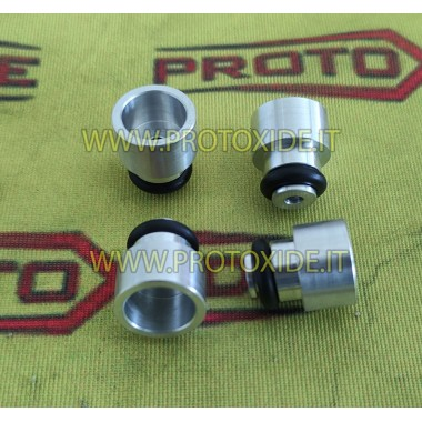 copy of Adapteri punaisille F1-injektoreille alumiinista Välilevyt Sovittimet ja lisävarusteet Injektorit