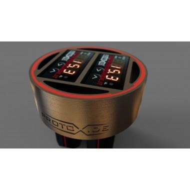 copy of フィアット500アバルトにインストールされているターボ圧力計 圧力計ターボ、ガソリン、オイル