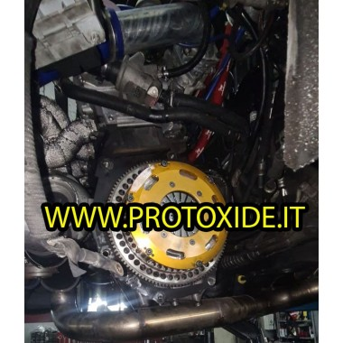 Svinghjulssæt i stål med kobber dobbeltpladekobling Fiat Grandepunto Alfa 147 Lancia 1.9-2.0-2.4 JTD 8-16v Flywheel kit med f...