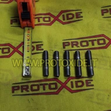 Espárragos 8 mm x 1.25 para colectores y turbinas 5 piezas Tuercas, presos y pernos especiales