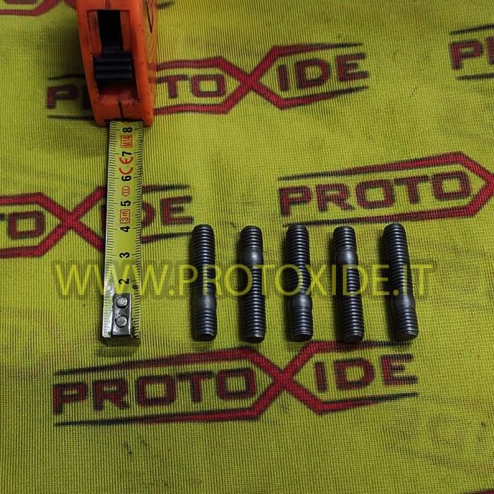 Prigionieri M8 8mm x 1.25 per collettori e turbine 5 pezzi Dadi, Prigionieri e Bulloneria Speciale